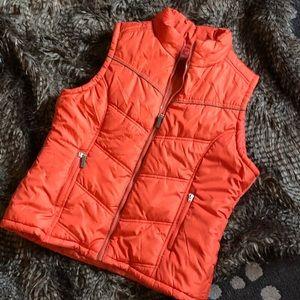 Paris Blues Outerwear orange winter puffer Vest M